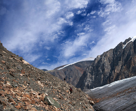 aktru: Road to Aktru Glacier in Altay Mountains, Russia