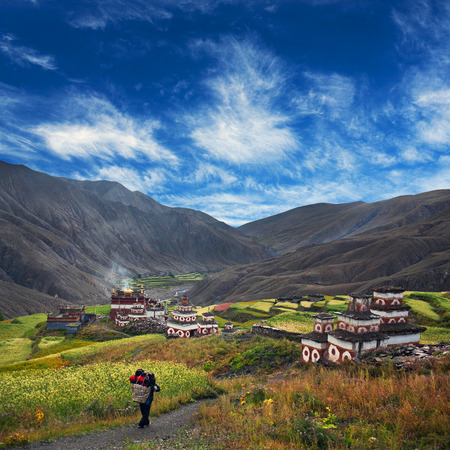 culturally: Saldang village in Dolpo, Nepal. Saldang lies in Nankhang Valley, the most populous of the sparsely populated valleys making up the culturally Tibetan region of Dolpo.