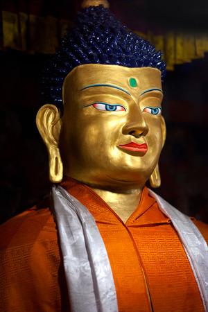 gautama buddha: Ancient statue of Gautama Buddha in Hemis Gompa (Tibetan Buddhist Monastery) in Leh, Ladakh, Jammu and Kashmir, India