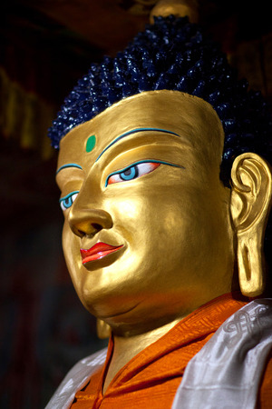 gautama buddha: Statue of Gautama Buddha at Hemis Gompa (Tibetan Buddhist Monastery) in Leh, Ladakh, Jammu and Kashmir, India