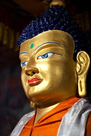 Statue of Gautama Buddha at Hemis Gompa (Tibetan Buddhist Monastery) in Leh, Ladakh, Jammu and Kashmir, India