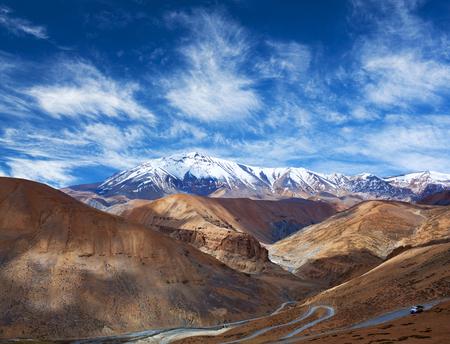 Himalayan mountain landscape along Manali - Leh National Highway in Ladakh, Jammu and Kashmir state, India