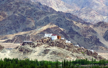 tantric: Thiksey Gompa in Ladakh, Jammu and Kashmir, India.