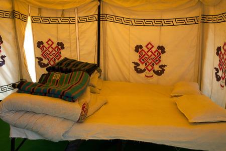 Ixterior of camping tents at the Leh - Manali Highway, India