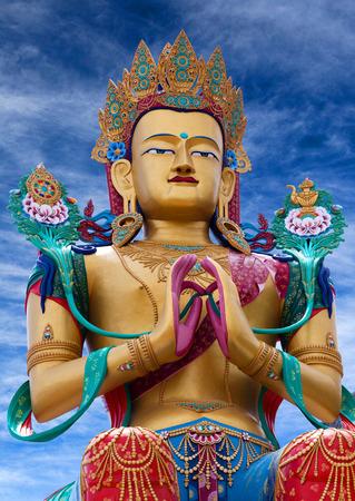 tantric: Statue of Maitreya Buddha near Diskit Monastery in Nubra Valley, Jammu and Kashmir, India. Stock Photo