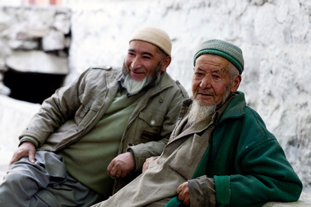 Balti men poses for a photo on June 13, 2012 in Turtuk Village, Ladakh, India