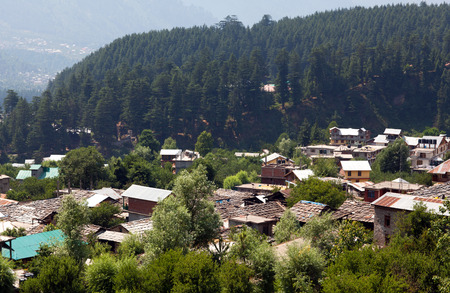 Old Manali village in Kullu valley, India. Kullu, or Kulu, is the capital town of the Kullu District in the Indian state of Himachal Pradesh. It is located on the banks of the Beas River. The Kullu valley is known as the Valley of the Gods or Dev Bhumi
