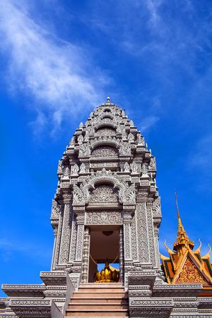 phnom penh: Sanctuary of Princess Norodom Kantha Bopha near Silver Pagoda in Phnom Penh, Cambodia Stock Photo