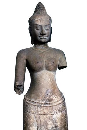 phnom penh: Ancient statue of the Khmer Empire period in Phnom Penh National Museum, Cambodia