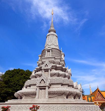 phnom penh: Stupa of King Norodom Suramarit near the Silver Pagoda in Phnom Penh