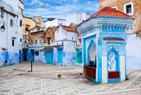 medina: Medina of Chefchaouen city in Morocco, North Africa
