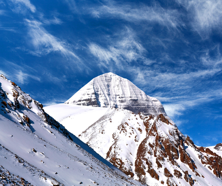 jainism: Sacred mount Kailash (elevation 6638 m), which are part of the Transhimalaya in Tibet. It is considered a sacred place in four religions: Bon, Buddhism, Hinduism and Jainism.