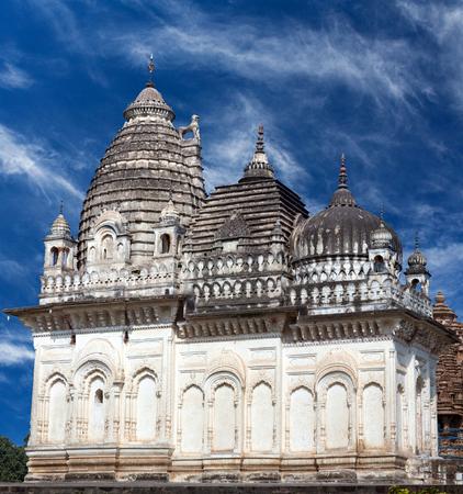 kamasutra: Ancient famous Jain temple in Khajuraho, India