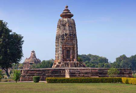 kamasutra: Ancient temple in Khajuraho, India