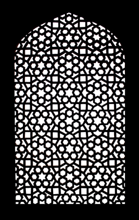 Texture of stone grating at Humayuns Tomb in New Delhi, India Stock Photo