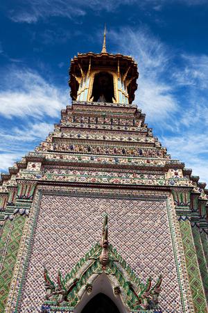 Ancient pagoda (17th Century) at Wat Phra Kaew in Bangkok, Thailand