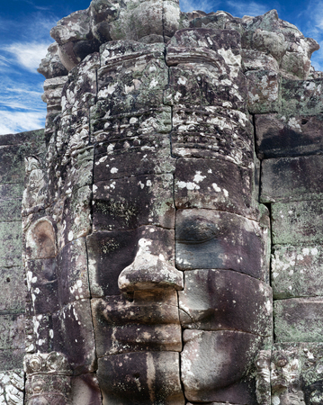Prasat Bayon temple (late 12th - early 13th century) in Angkor Thom, Cambodia