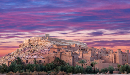 Panorama of Ait Benhaddou Casbah near Ouarzazate city in Morocco, Africa