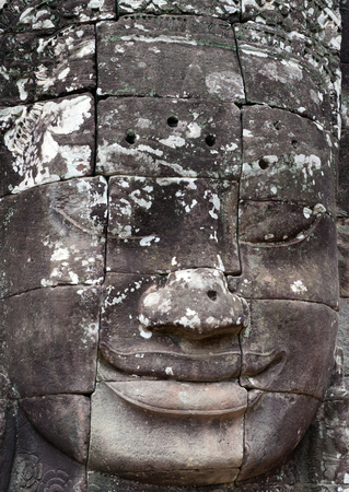prasat bayon: Ancient bas-relief of famous Prasat Bayon temple (late 12th - early 13th century) in Angkor Thom, Cambodia