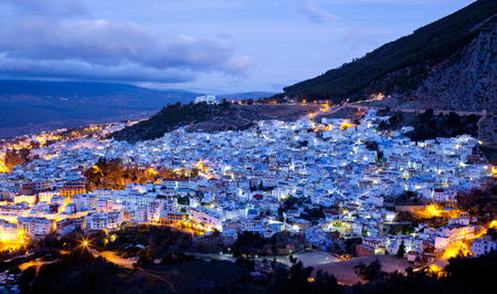 northwest africa: Chefchaouen Medina in Morocco, Africa. Chefchaouen or Chaouen is a city in northwest Morocco. It is the Chief town of the province of the same name, and is noted for its buildings in shades of blue.