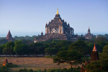 Thatbyinnyu Temple in Bagan Archaeological Zone, Myanmar. Thatbyinnyu, Sabbannu or Editorial