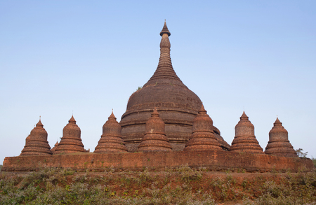 archaeologically: Ratanabon solid stupa in Mrauk U Archaeological zone, Myanmar. Mrauk U is an archaeologically important town in northern Rakhine State. It was the capital of Mrauk U Kingdom from 1430 to 1785. Editorial