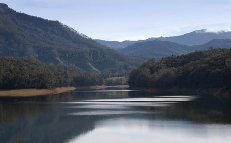Kundala Lake in Kerala, South India Stock Photo
