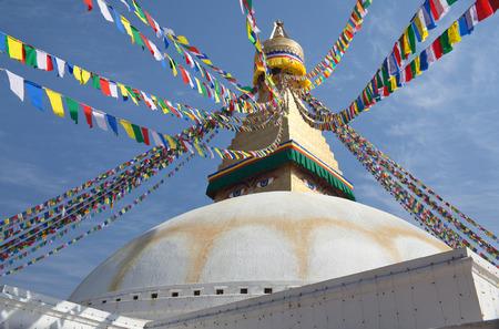 Boudhanath, Boudnath, Boudha Stupa in Kathmandu valley, Nepal Stock Photo