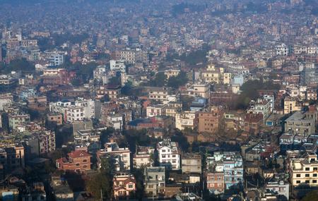 Aerial view of Kathmandu valley, Nepal