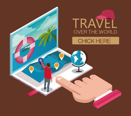 tourist attractions: Tourist attractions Illustration
