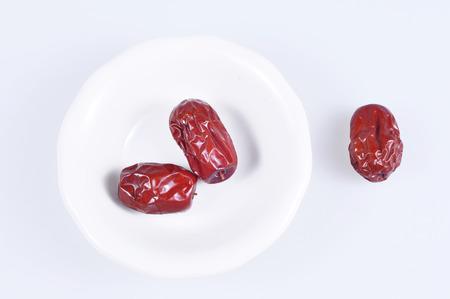 jujube fruits: Red dates Stock Photo