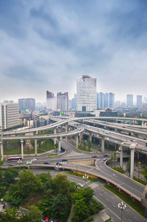 famous industries: Buildings in the city of Chengdu