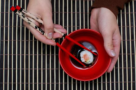 traditional japan dish, chopsticks and food