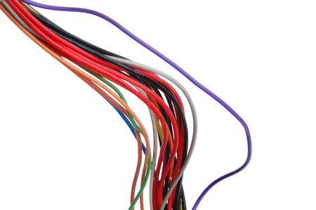 Red Elektrische Kabel Auf Einem Weißen Hintergrund Lizenzfreie Fotos ...