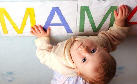 I so love mum... The sad girl,  without mum Stock Photo - 2815852