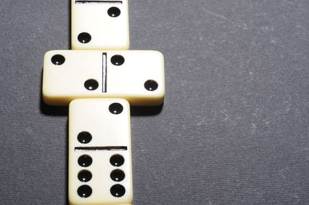 Close up of group dominoes. Business concept photo