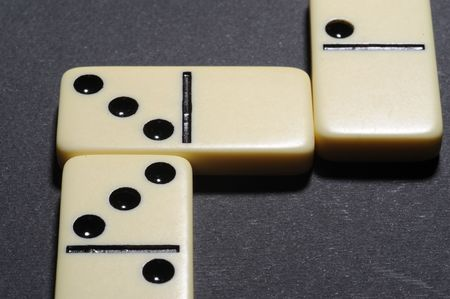 Close up of group dominoes. Business concept Stock Photo - 3259078