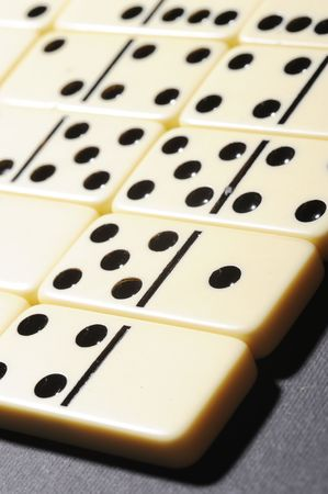 passtime: Close up of dominoes. Business concept Stock Photo