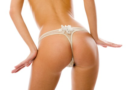 Perfect ass. Back isolated on white background