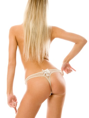Perfect ass. Isolated on white background