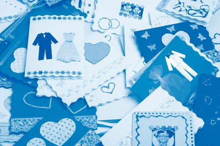 Post cards. Invitations to wedding Stock Photo - 4769010