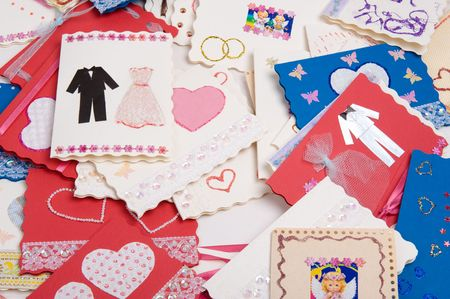 Post cards. Invitations to wedding Stock Photo - 4769018