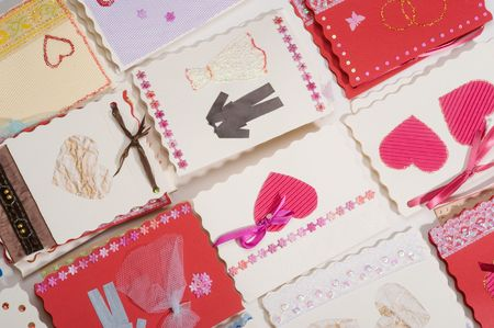 Post cards. Invitations to wedding Stock Photo - 4769017