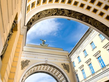 The blue sky of Petersburg Stock Photo