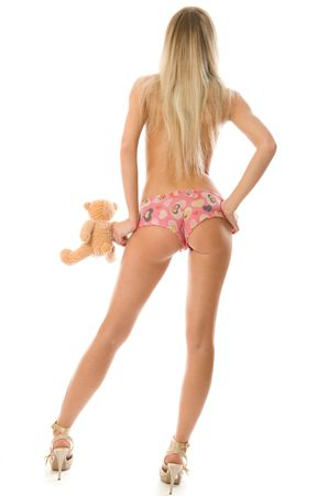 Picture of blonde girl with little teddy bear