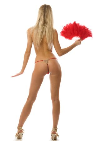 Picture of fit blonde in red lingerie Stock Photo - 6027079